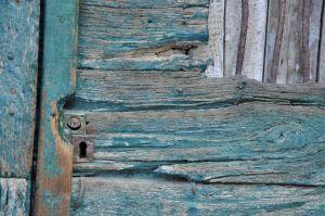 Wooden Turquoise Door, Italy