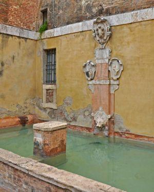 Pastel Fountain, Siena, Italy